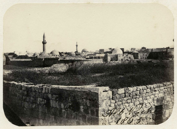 258 Bis. Albert Poche Syria, 1865. Aleppo and its surroundings. 6 albumen prints, signed and dated