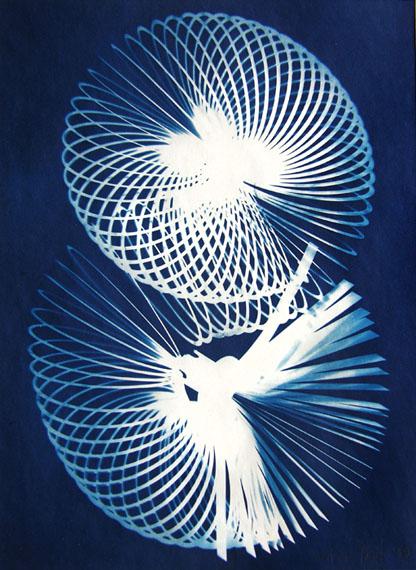 Nancy WILSON-PAJICSpirals 1999Unique photogram in Cyanotype Archival paper21,9 X 29,8 cm
