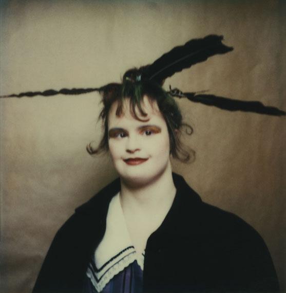 Sibylle BergemannJennifer Lau, Theater RambaZamba, Berlin, 1997© Nachlass Sibylle Bergemann, OSTKREUZ / Courtesy Loock Galerie, Berlin