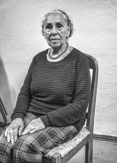 Maria Antonia Gonzales Cabezas. Festgenommen am 05.10.1973 und in der Kriegsakademie der Marine in Valparaíso gefoltert. Fotografiert am 03.12.2016 in Berlin. © José Giribás Marambio