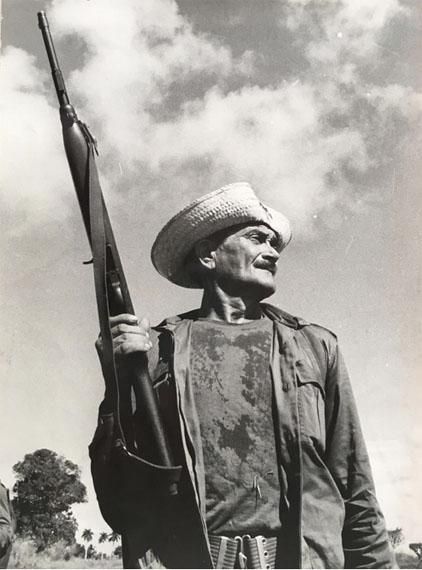Raúl Corrales (1925-2006) Leandro Malagón fue uno de los primeros que formó parte de la milicia campesina, 1960