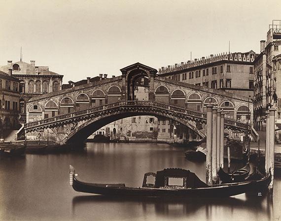 Venice, Ponte di Rialto, Negative 1857 – 1864print before 1893, albumen paper print mounted on card