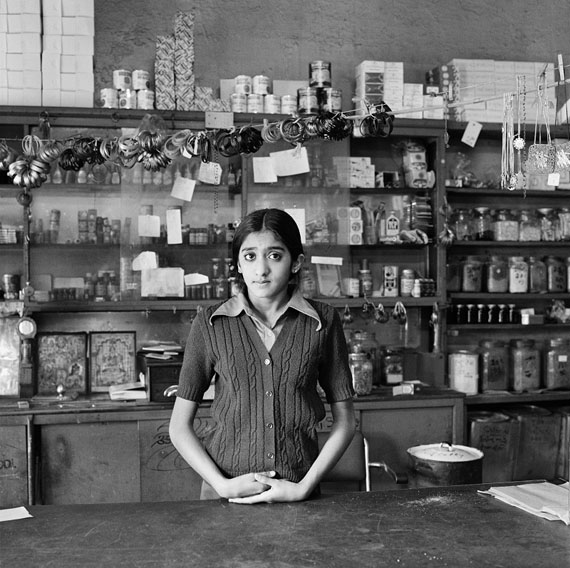 David Goldblatt, The Modis' daughter in their shop before its destruction under the Group Areas Act, Fietas, 1977Courtesy Goodman Gallery, Cape Town, Johannesburg
