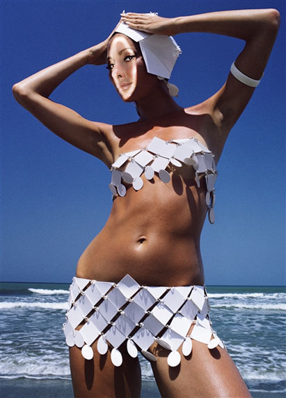 Alberta Tiburzi in Paco Rabanne, 1966