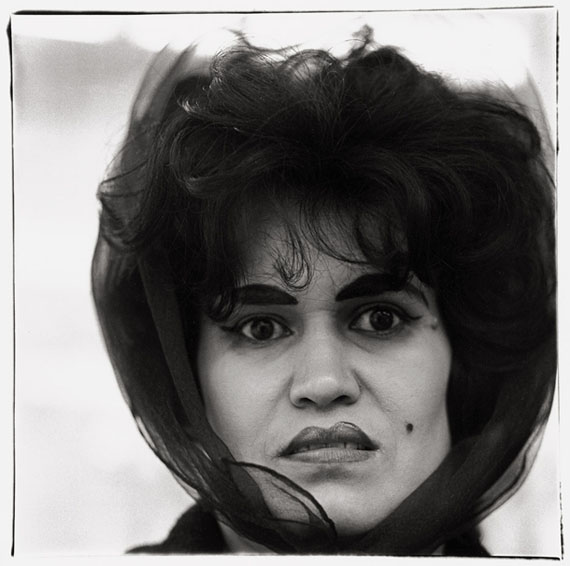 "Lot 4099. Diana Arbus. ""Puerto Rican woman with a beauty mark, NYC"". 1965."