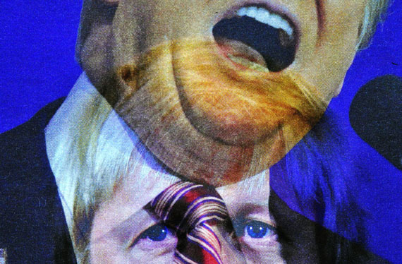 """Herbert Döring-Spengler: """"Trump"""", 2015© Herbert Döring-Spengler / courtesy infocusgalerie, Köln"""