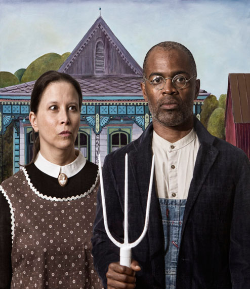 e2 - Ode to Grant Woods American Gothic. Courtesy of Jonathan Ferrara Gallery, New Orleans