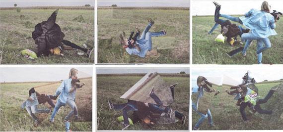 Ramin Haerizadeh, Rokni Haerizadeh, Hesam Rahmanian. Macht Schon, 2015. Set of 6 works. Paper collage. 11 5/8 x 16 1/2 in. each. Courtesy of the artists and Gallery Isabelle van den Eynde, Dubai.