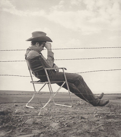 Frank Worth: James Dean seated, 1956