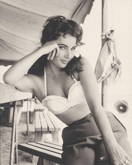 Frank Worth: Elizabeth Taylor on the Set of Giant, 1956Courtesy Grisebach GmbH