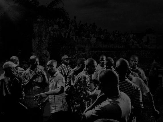 Republic of Congo, 2013, Scene #9992 © Alex Majoli / Magnum PhotosBrazzaville stadium, with Red Devils supporters.