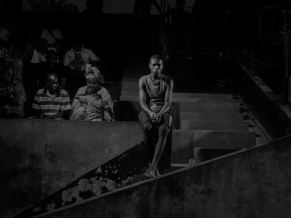 Republic of Congo, 2013, Scene #9928 © Alex Majoli / Magnum Photos Brazzaville stadium, with Red Devils supporters.