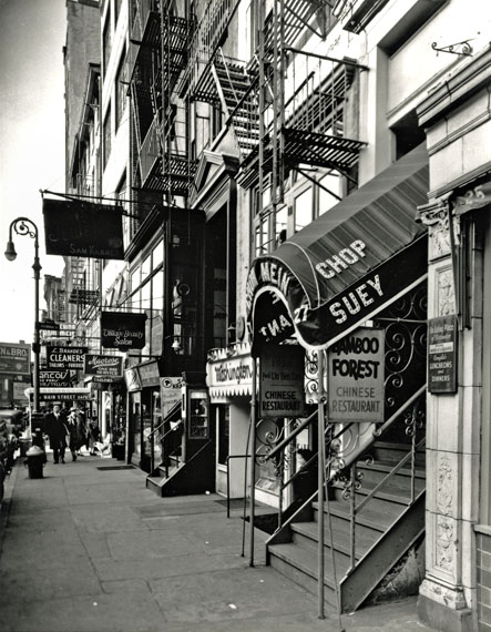 "© Berenice Abbott, ""Chop Suey, West 8th Street"", 1935–38"