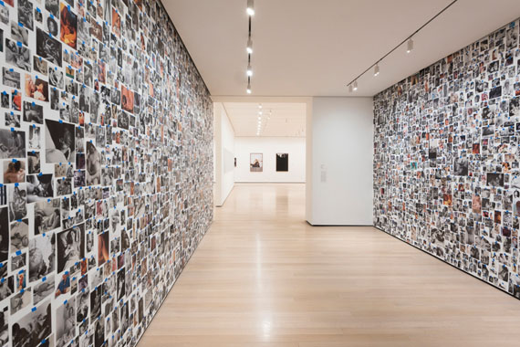 Carmen Winant, My Birth, 2018Found images, tape. Installation view of Being: New Photography 2018 at The Museum of Modern Art, New York, March 18, 2018–August 19, 2018. © 2018 The Museum of Modern Art. Photo: Kurt Heumiller