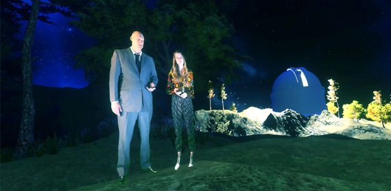 Tony Oursler, Spacemen R my Friended, 2016, still da video, Courtesy Dep Art Gallery Milan
