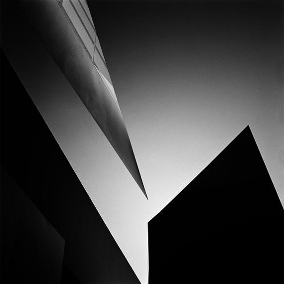 Hélène Binet: Vitra Fire Station 02 (Architecture by Zaha Hadid), 1993Digital b/w silver gelatin print 55 x 55 cm101.5 x 71.5 x 3 cm framedCourtesy ammann//gallery