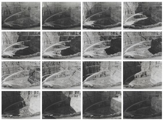 Ralf Cohen: 16 Stunden im Steinbruch, 1984, Unikat, 16 à 25,5 x 35,5 cm © Ralf Cohen