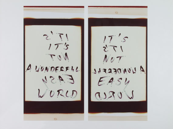Ralf Cohen: It's a wonderful world, 2010, Unikat, Diptychon, 2 x 95 x 61 cm © Ralf Cohen