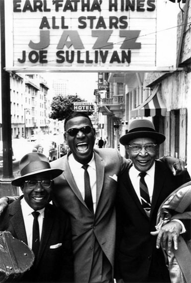 © William Claxton, Earl 'Fatha' Hines (center), Jimmy Archey (left), Pops Foster (right)San Francisco 1960