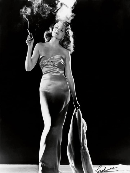 Rita Hayworth by Robert Coburn for Gilda, 1946. Columbia Pictures  © John Kobal Foundation