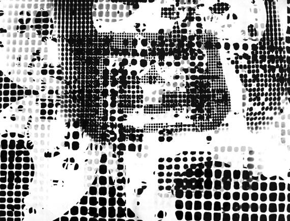 Roger Humbert: Untitled, 1951, Photogram on Baryt paper (Agfa-Gevaert), 47 x 61 cm, Unique