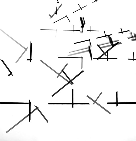 Roger Humbert: Untitled, 1975, Photogramon Baryt paper, 49 x 49 cm, Unique