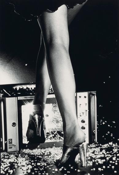 CHRIS VON WANGENHEIM (1942-1981)Woman Smashing T.V. Set, American Vogue, 1977gelatin silver print12.1/8 x 8.1/4 in.€5,000 – 7,000 $5,700 – 7,900 © 2019 The Collection of Chris von Wangenheim, LLC/Licensed by VAGA at Artists Rights Society (ARS), NY