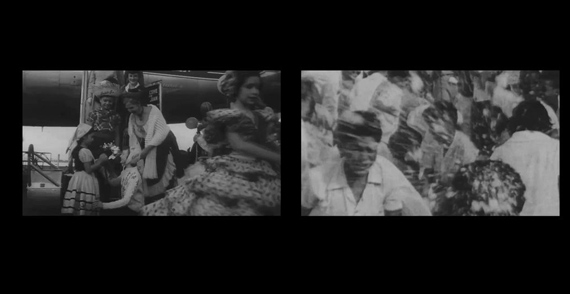 Sofía Gallisá Muriente, Lluvia con nieve/Rain with snow, 2014. Two-channel video, black-and-white, sound, 13:32 min. Image courtesy the artist