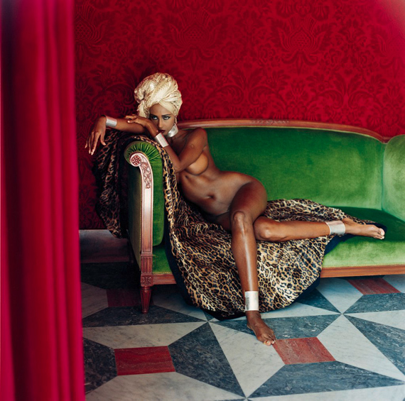 Helmut Newton: Iman, American Vogue, Hotel Negresco, Nice, 1989