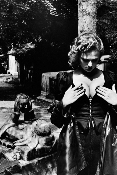 Helmut Newton: Fashion Yves Saint Laurent, Père Lachaise, Paris, 1977