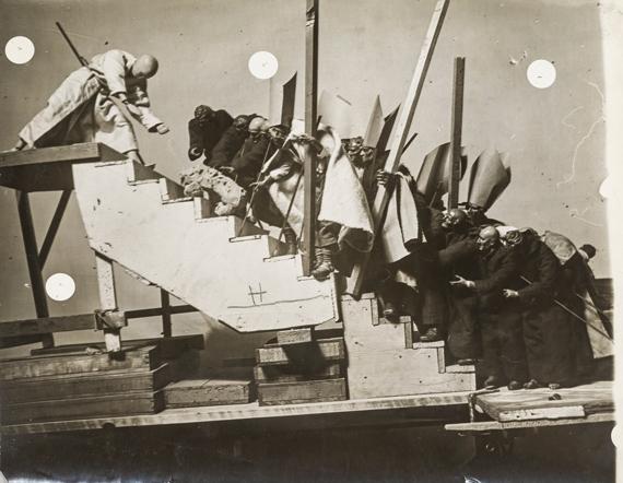 167. JOSÉ MARÍA SERTÉtudes de groupes de santons pour l'Alcazar de Tolède, c. 1940-1943. Five vintage gelatin silver prints.