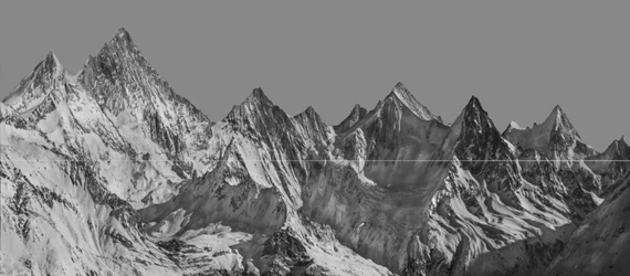 Peaks, 110x250cm, photography, Mixed media © Shao Wenhuan