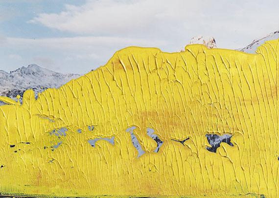 Gerhard Richter12.4.92, 1992Öl auf C-Print12,7 x 17,7 cmSammlung Niedersächsische Sparkassenstiftung im Sprengel Museum Hannover© Gerhard Richter, 2019