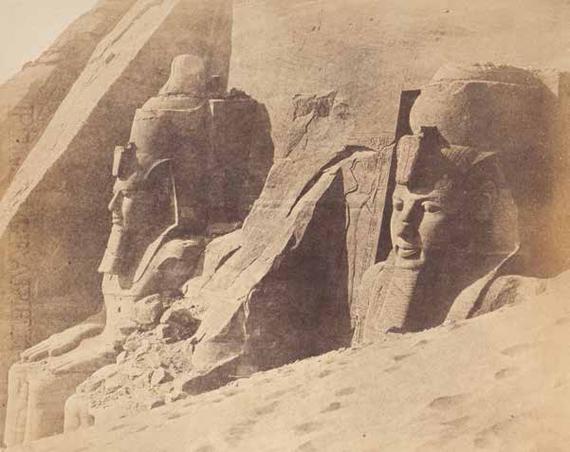 220 Robert Murray (1822-1893) Égypte, 6 février 1857.Nubie. Temple d'Abou Simbel.Salt paper print.