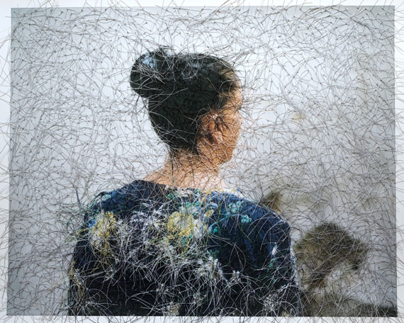 Sissi Farassat: Wall, 2019, 40 x 50 cm, C-print with thread, unique piece
