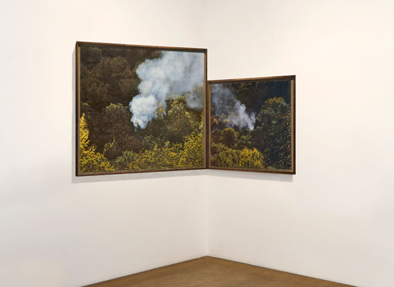Miguel Rothschild: Groß-und Kleingeist, 118 x 206 cm, diptyque, ink jet prints with burns.