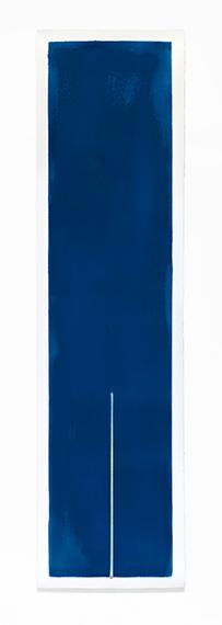 24S18-13h50, L'ombre des heures series , 2018Cyanotype on cotton paper 54x200 cm / 21,2x78,7inUnique piece© Thomas Paquet / Courtesy Galerie Thierry Bigaignon