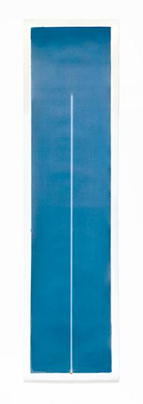 03J19-14h04, L'ombre des heures series , 2019Cyanotype on cotton paper 54x200 cm / 21,2x78,7inUnique piece© Thomas Paquet / Courtesy Galerie Thierry Bigaignon