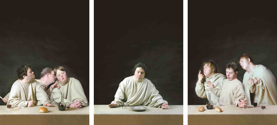 Raoef Mamedov: The Last Supper (detail), photographs, 5 panels, 150 x 100 cm, edition 7