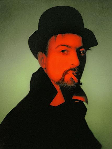 © René Groebli, The red man, studio photograph, No. D15, Zurich, 1957