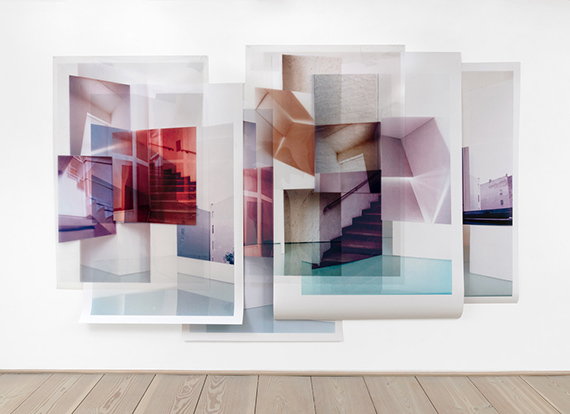 Susa Templin, Spatial Abstraction, 2020, various layers: UV- print on screenfilm and pigment prints, variable dimensions, Edition 1 + 1 AP
