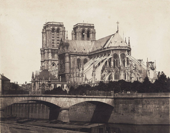 Lot 4007Bisson Frères. Notre Dame. 1856. Salt print.