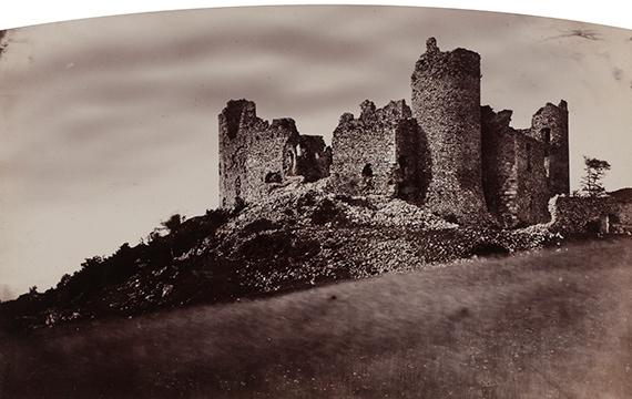 12. Félix Thiollier (1842-1914)Sites of the Loire, c. 1860-1870.Ruins of the château des Cornes d'Urfé.Albumen print.