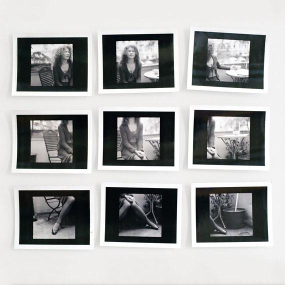 Jens SchünemannKirsten, 2003, 9 Polaroidblätter SW, 8,5 x 10,7 cm auf Hadernkarton 33 x 45 cm