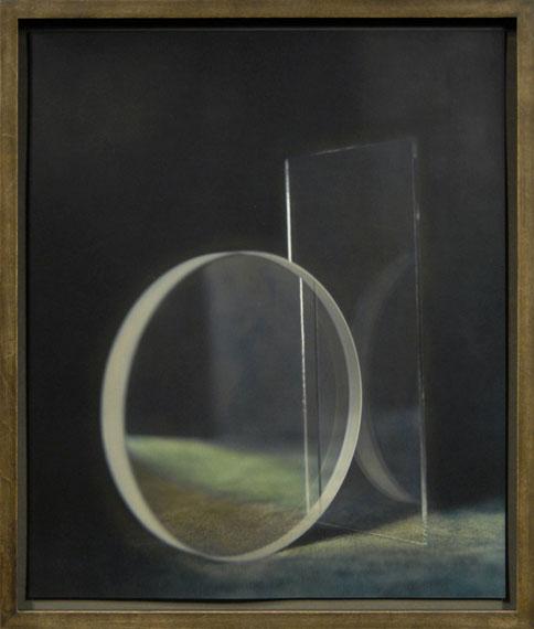 Ingar Krauss: o.T. (aus der Serie GLAS, Jena/Zechin), 2014/15Bromsilberpapier, Ölfarbe, 50 x 42 cm