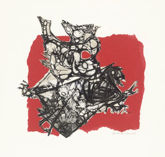 """© Kurt Wendlandt, """"Harpyie"""", Lichtgrafik, Papiercollage, 1959"""