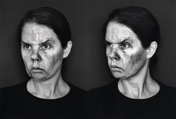Aneta Grzeszykowska: Face Book (Angry Face), 2020Silver gelatine hand print, 50 x 66 cm framed© Courtesy of the artist and the Raster Gallery, Warsaw