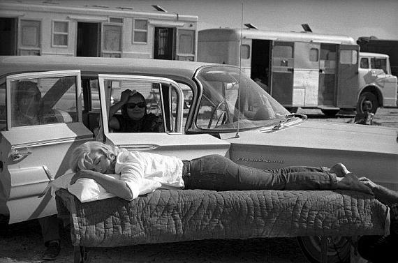 "Eve Arnold: Marilyn Monroe. Filming of ""The Misfits"", Nevada, USA, 1960