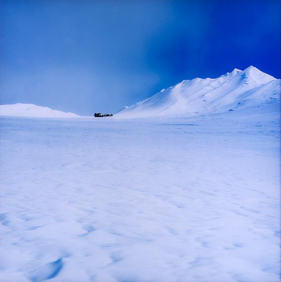 """Lot 16ISAAC JULIEN, """"ICE PROJECT WORK NO. 3"""", 2006From the """"True North"""" seriesDuratrans photograph mounted in lightboxEd. 3/6With label and stamp from Galería Helga de Alvear on the reverse120x120 cm"""