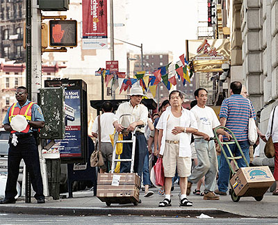 ©Florian Böhm, Wait for Walk, Canal/Bowery St, NY,05